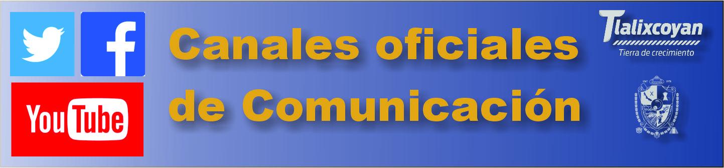 canales oficiales de comunicación municipio tlalixcoyan