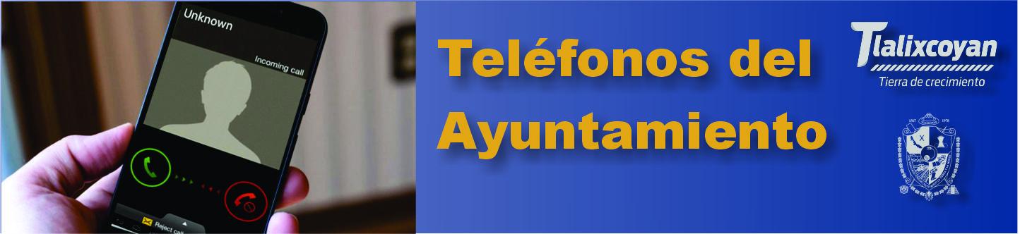 Telefonos del ayuntamiento tlalixcoyan